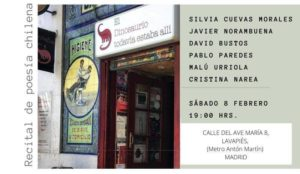 Recital de Poesía Chilena en Madrid
